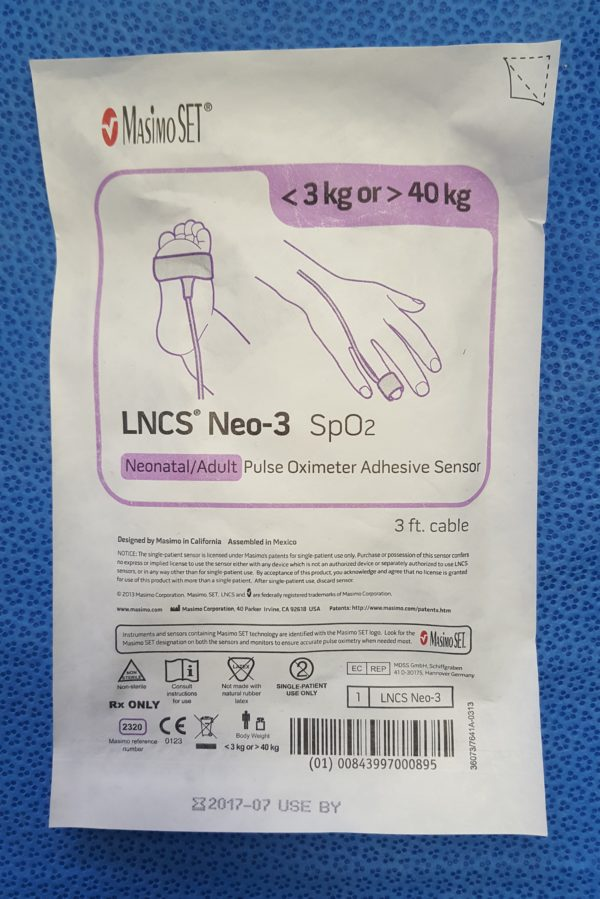 Masimo LNCS Neo-3 SpO²-Klebesensor f. Neugeborene o. Erwachsene
